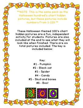 Halloween Hidden Picture 100's Chart Pack