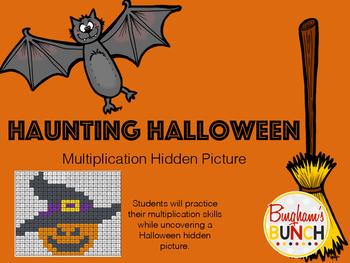 Haunting Halloween Multiplication Hidden Picture