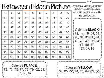 Halloween Hidden Picture Number Recognition