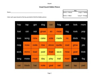 Halloween Hidden Picture - Vowels O and A