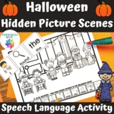 Halloween Hidden Pictures Printable Speech and Language Th