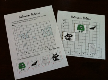Halloween Hideout Coordinate Grid Game