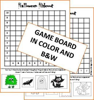 Halloween Hideout Coordinate Grid Game