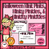 HALLOWEEN HINK PINK, et al. PUZZLES Word Riddles Task Cards Vocabulary GATE