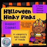 Halloween Hinky Pinks, Rhyming Word Riddles, Fall Games, R