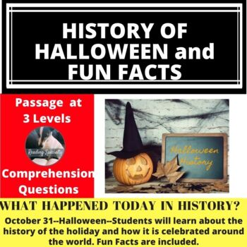 Halloween History and Around the World Differentiated Reading Passage, Oct.31