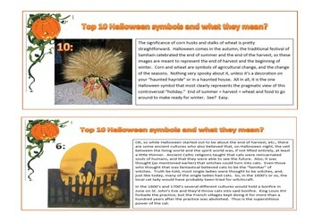 Halloween - History of Halloween Symbols - Reading Cards and KWL