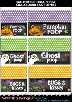 Halloween Hodge Podge Chalkboard Bag Toppers