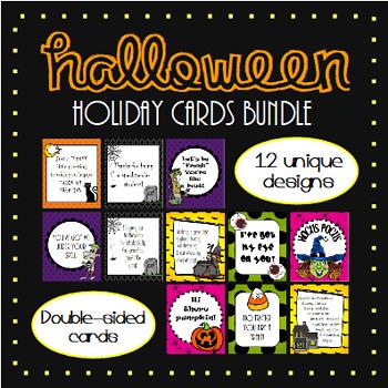 Halloween Holiday Cards BUNDLE