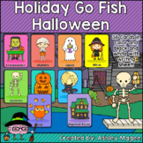 Halloween Holiday Fun Go Fish Game - Themed Game and Writing