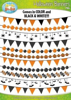Halloween Pendant Banners Clipart {Zip-A-Dee-Doo-Dah Designs}