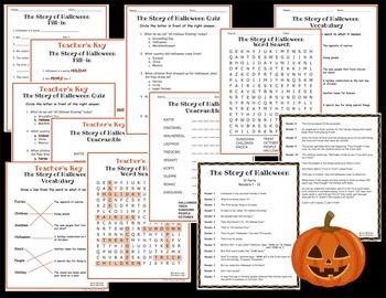 Halloween Readers Theater Script, Reading & Activity Packet