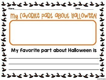 Halloween Holiday Writing! Four Choices!