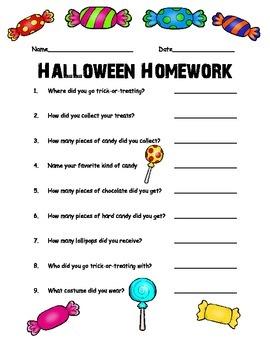 Halloween Homework