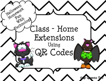 Halloween Homework Fun using QR Codes (School to Home Connections)
