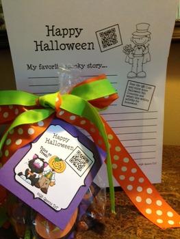Halloween Homework Fun using QR Codes (School to Home Conn