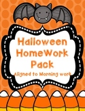 Halloween Homework Pack