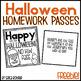 Halloween Homework Pass FREEBIE