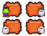 Halloween Homework Pass - Free!