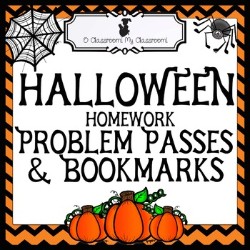 Halloween Homework Passes & Bookmarks - Halloween Gifts for Students