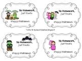 Halloween Homework Passes (No Homework - Just Treats)