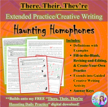 There, Their, They're: Halloween 3-Page Practice and Creative Writing