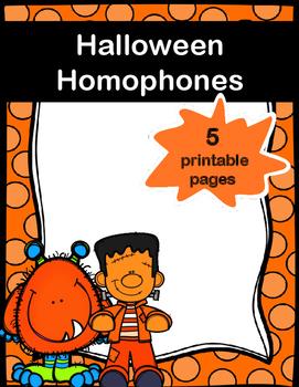 Halloween Homophones Coloring