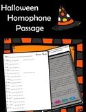 Halloween Homophones Story Reading