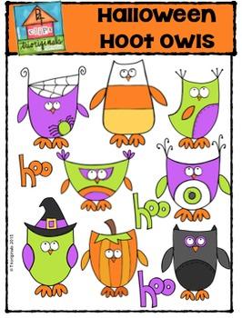 Halloween Hoot Owls {P4 Clips Trioriginals Digital Clip Art}