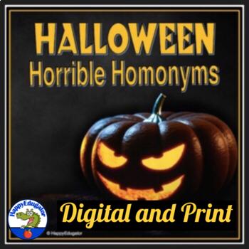 Halloween Homonyms and Homophones Worksheets