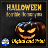 Halloween Homonyms and Homophones Worksheets