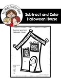 Halloween House Subtract and Color