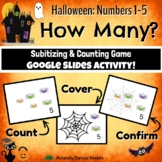 Halloween How Many? 1-5 Subitizing, Number Sense & Counting Smartboard Game