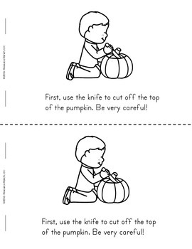 Halloween FREE Printable Book How To Make a Jack-o'-lantern