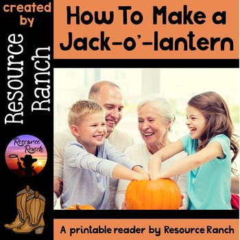 "Halloween FREE Printable Book          ""How To Make a Jack"