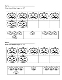Halloween -  How many more in the ten frame