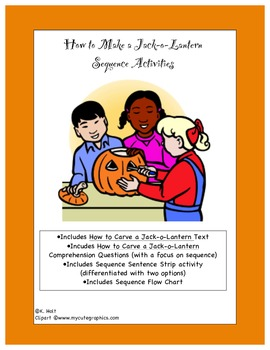 Halloween How to Make a Jack-o-Lantern Sequence Activities