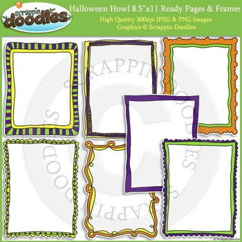 Halloween Howl 8 1/2 x 11 Ready Pages