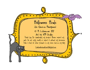 Halloween Howls - Classroom Management Using Jokes
