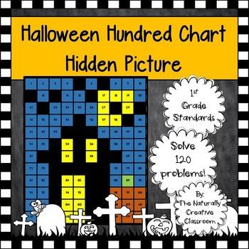 Halloween Hundred Chart Hidden Picture- 1st Grade Standards!