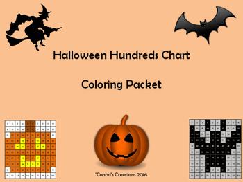 Halloween Hundreds Chart Coloring