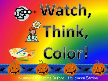 Halloween Hundreds Chart Fun Watch, Think, Color Mystery Pictures