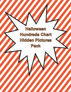 Halloween Hundreds Chart Hidden Picture Pack