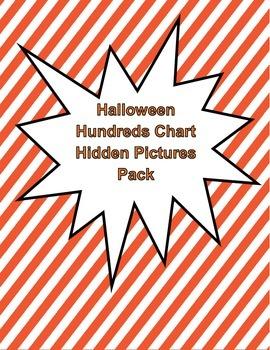 Halloween Hundreds Chart Hidden Picture Pack