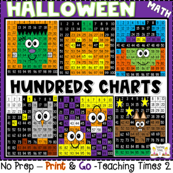 Halloween Hundreds Chart Hidden Pictures By Teaching Times   Tpt