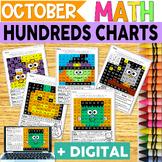 Halloween Hundreds Charts | MATH CENTERS | MATH REVIEW