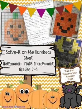 Halloween Hundreds Chart Math Enrichment Picture Puzzles