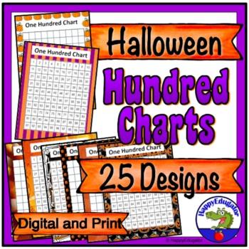 Halloween Hundreds Charts - Halloween Theme