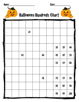 Halloween Hundreds activity