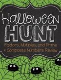 Halloween Hunt - Factors, Multiples, Prime & Composite